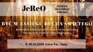 Jesienne Rekolekcje Odnowy JEREO